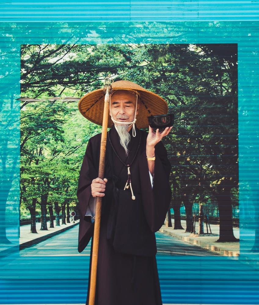 Buddhist Monk in Tokyo