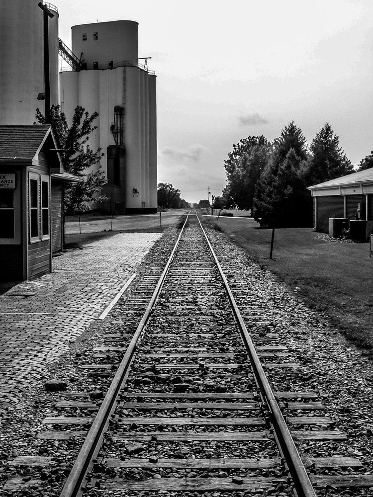decommissioned railroad tracks