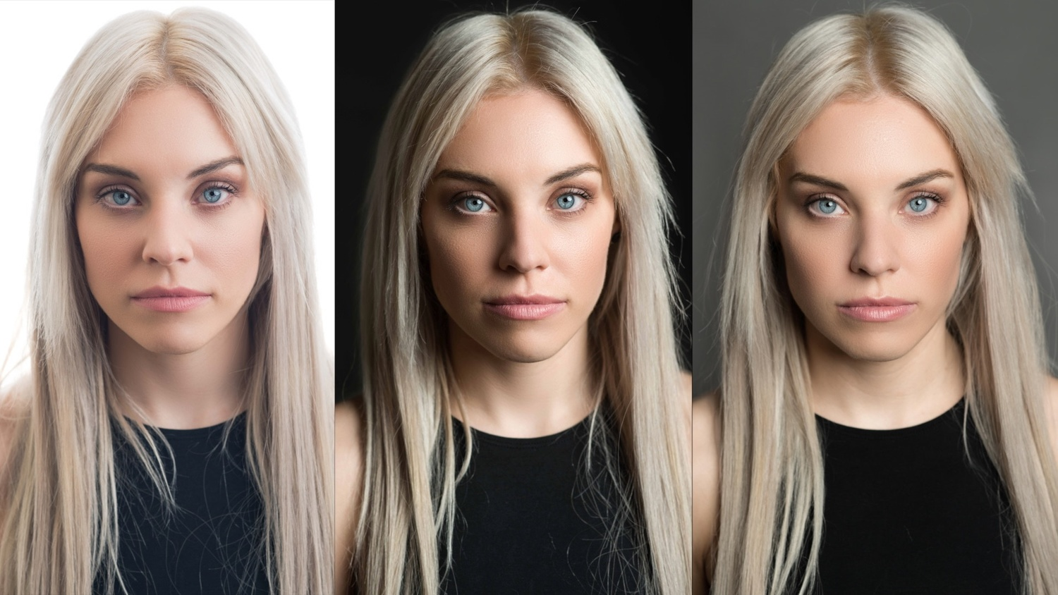 Here are the three shots side by side so you can really see the difference.  sc 1 st  Fstoppers & The Headshot Setup That Will Save You Time and Impress Your Clients ...