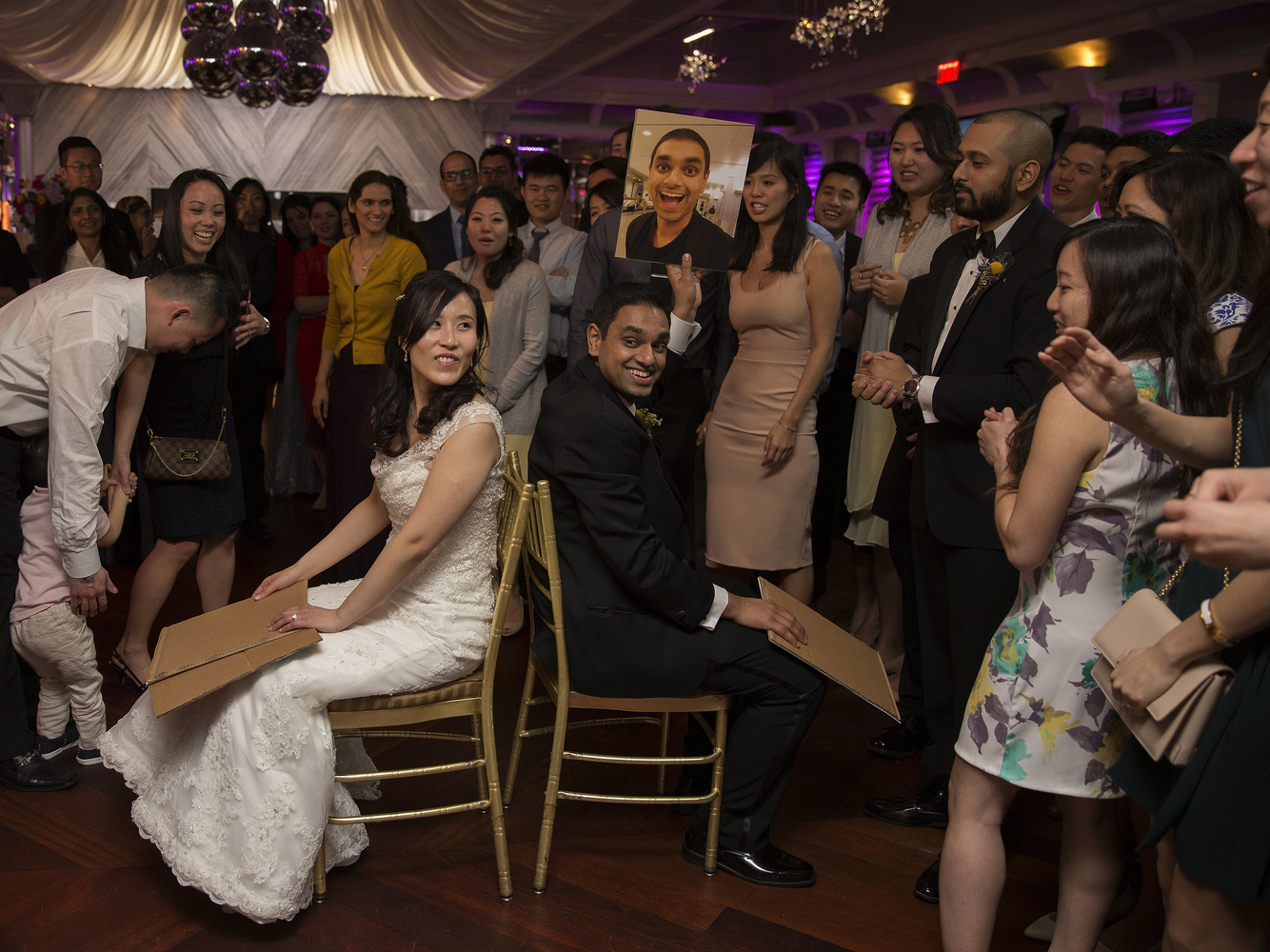 A fun moment at my brother's wedding that the photographers pulled me into because of my previously friendly interactions earlier in the day.