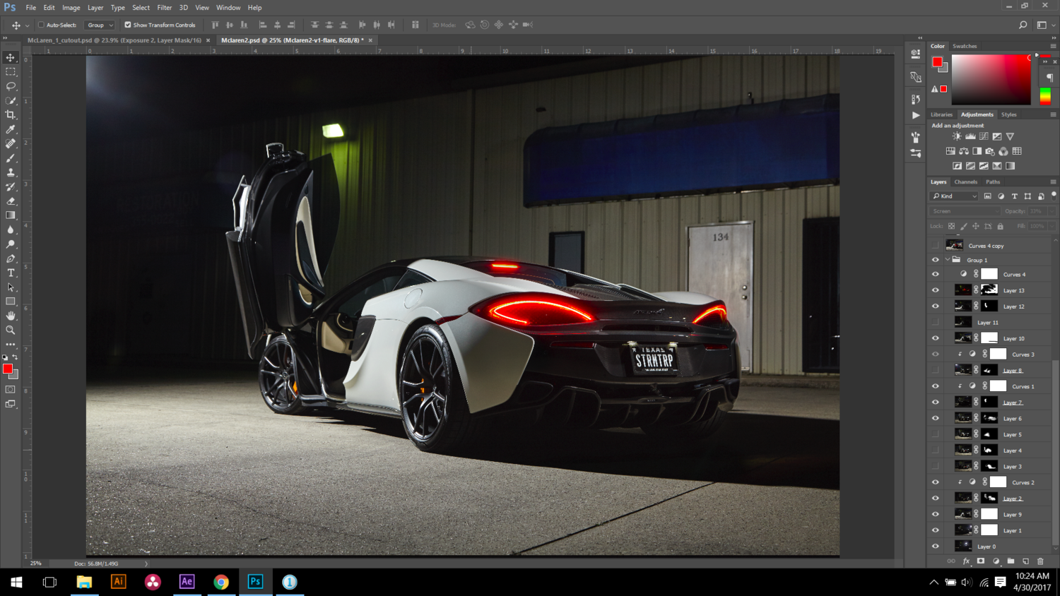 Photoshop Composite McLaren Stormtrooper Adobe