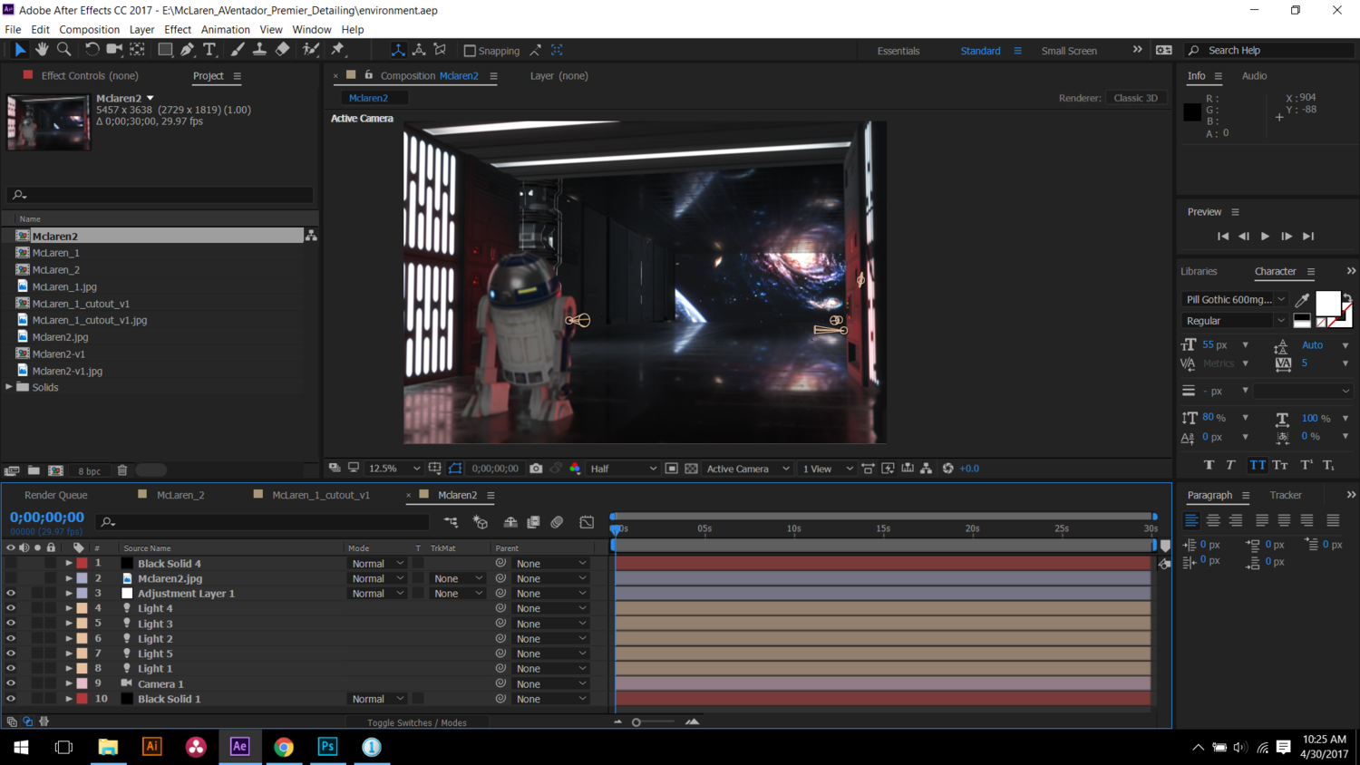 After Effects R2D2 Element 3D Video Copilot Star Wars