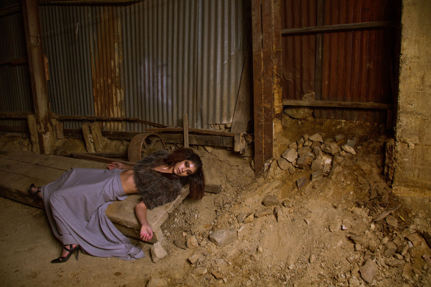 Model in a gold mine