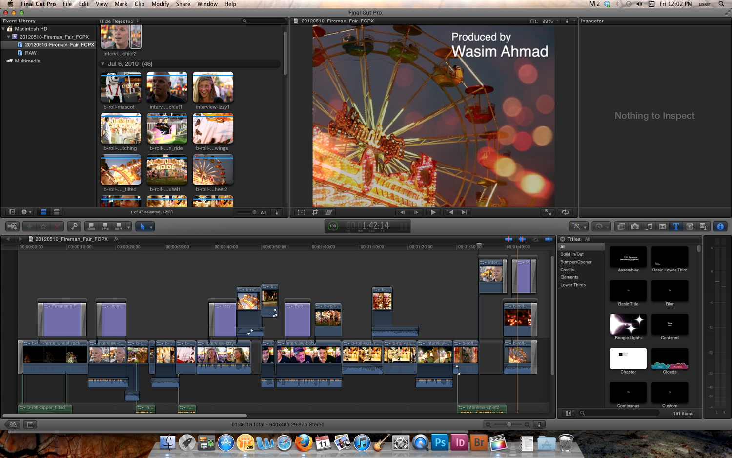 This first timeline I ever created in Final Cut Pro X was so bad, I had to take a picture of how disorganized it all looked. It was mostly my fault, since I had no idea what I was doing.