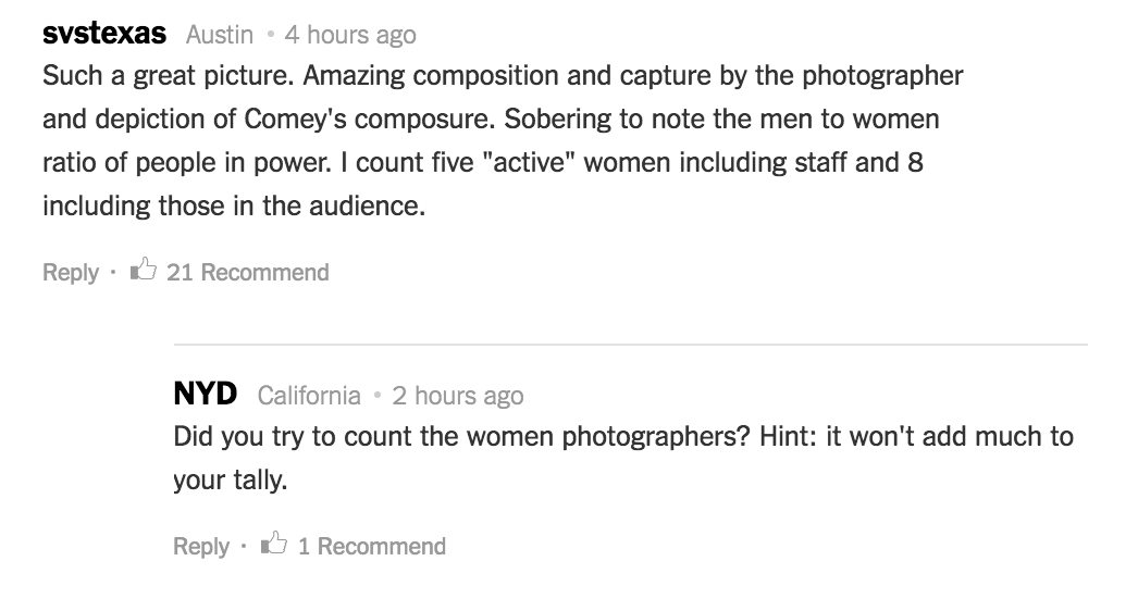 Some of the comments on the New York Times story about the photo.