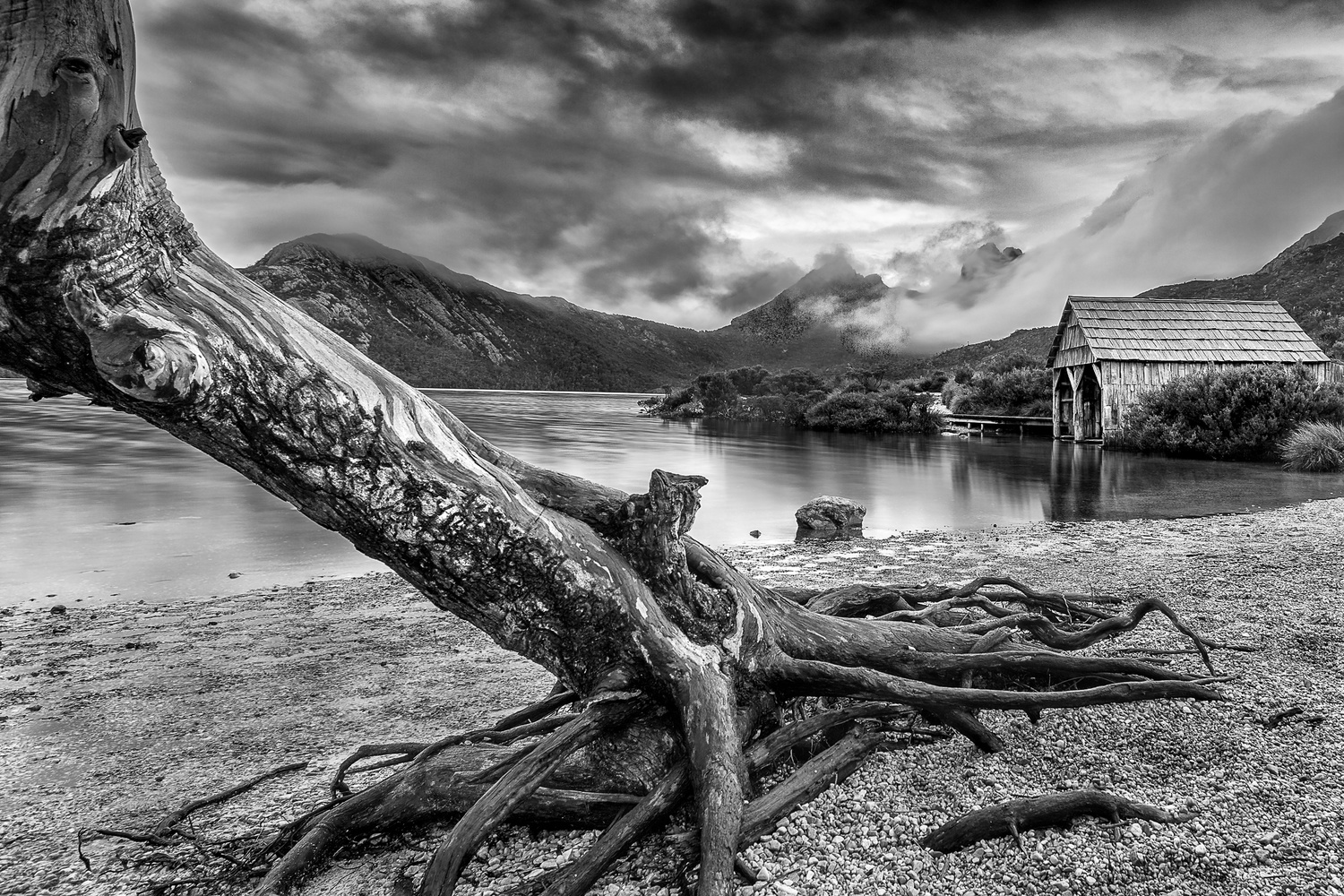 lake, mountain, black and white, long exposure, slow shutter, nisi filter