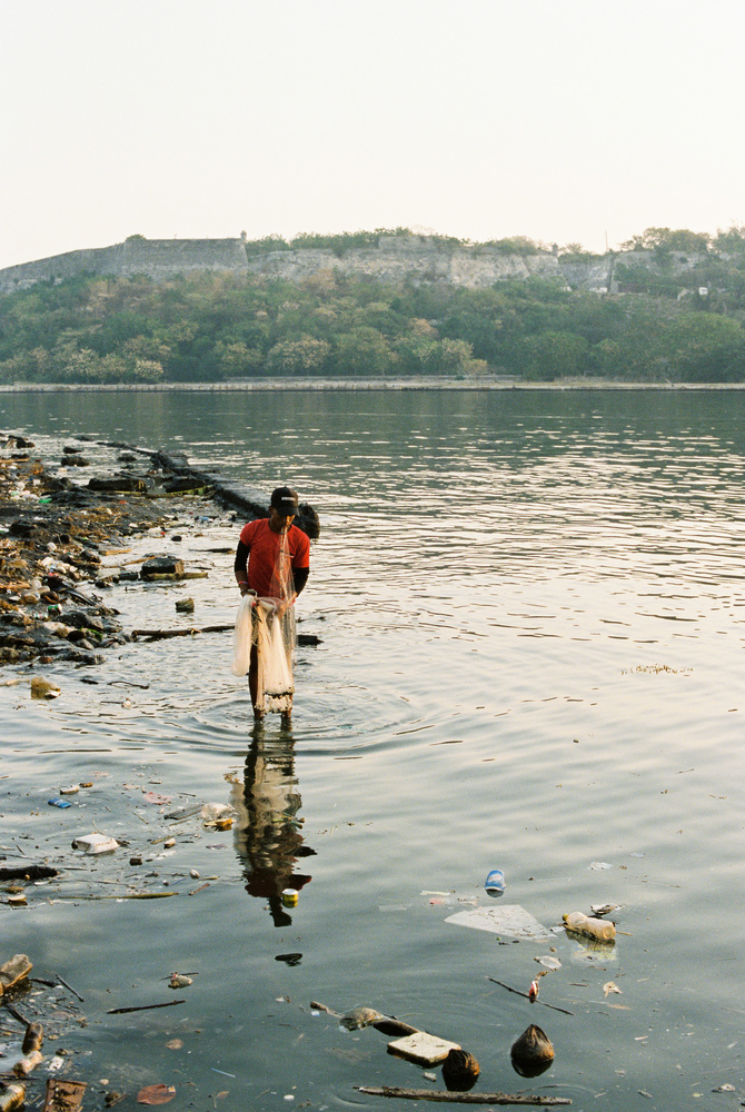 Fisherman in Havana Cuba 35mm Film