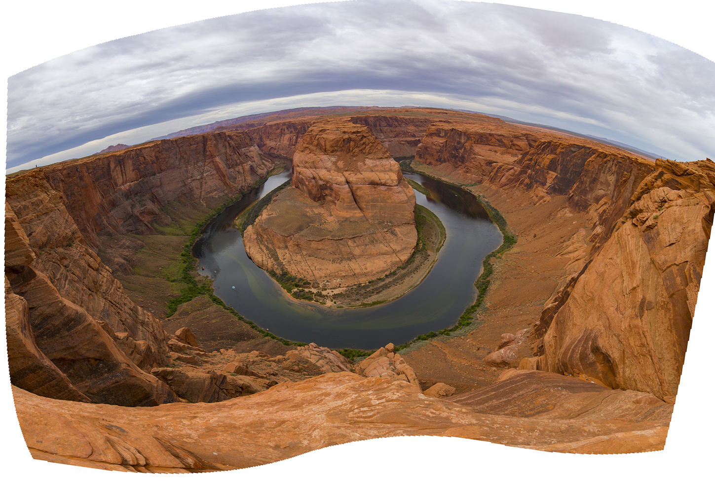 panoramic distortion correction example before processing
