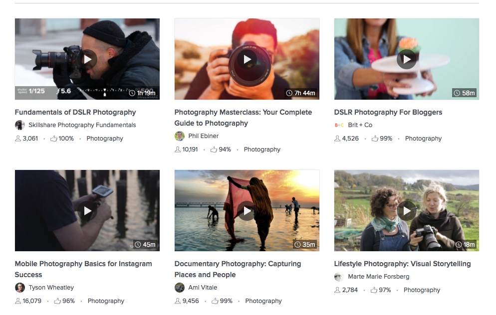 Learn Anything and Everything About Photography With Skillshare