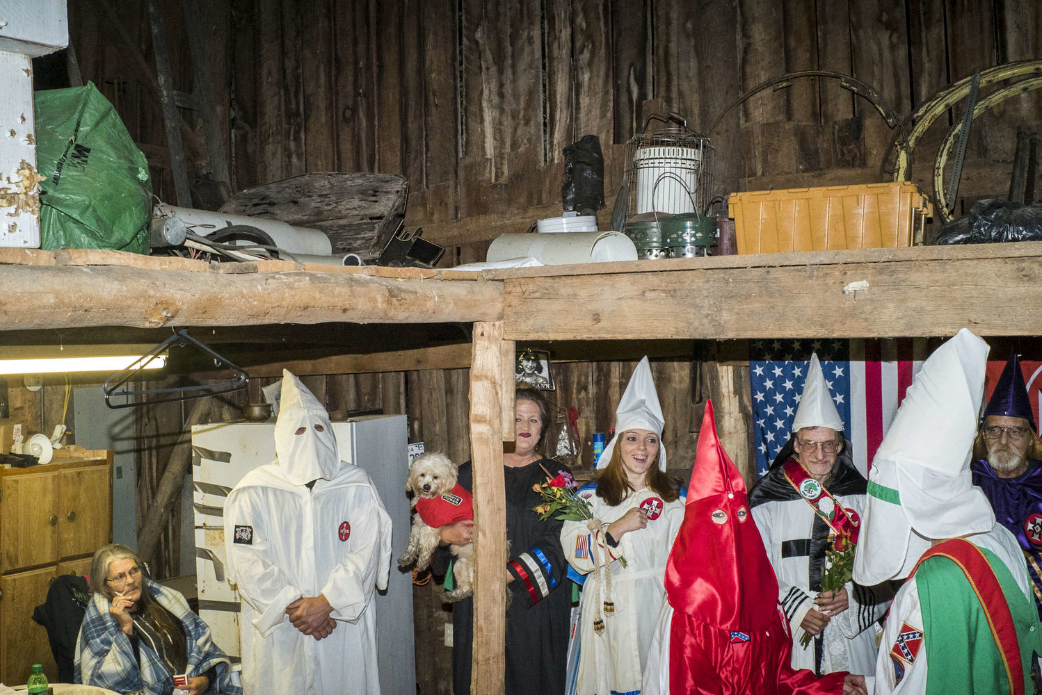 The wedding of two members of the KKK in a barn in rural Tennessee. (Peter van Agtmael/Magnum Photos)