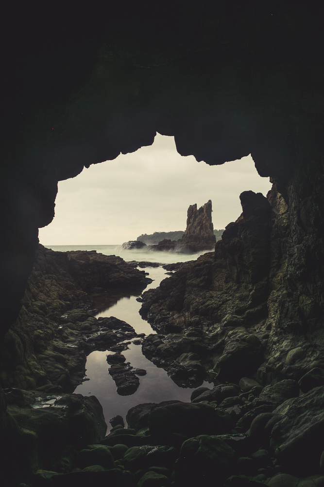seascape, long exposure, landscape, cave