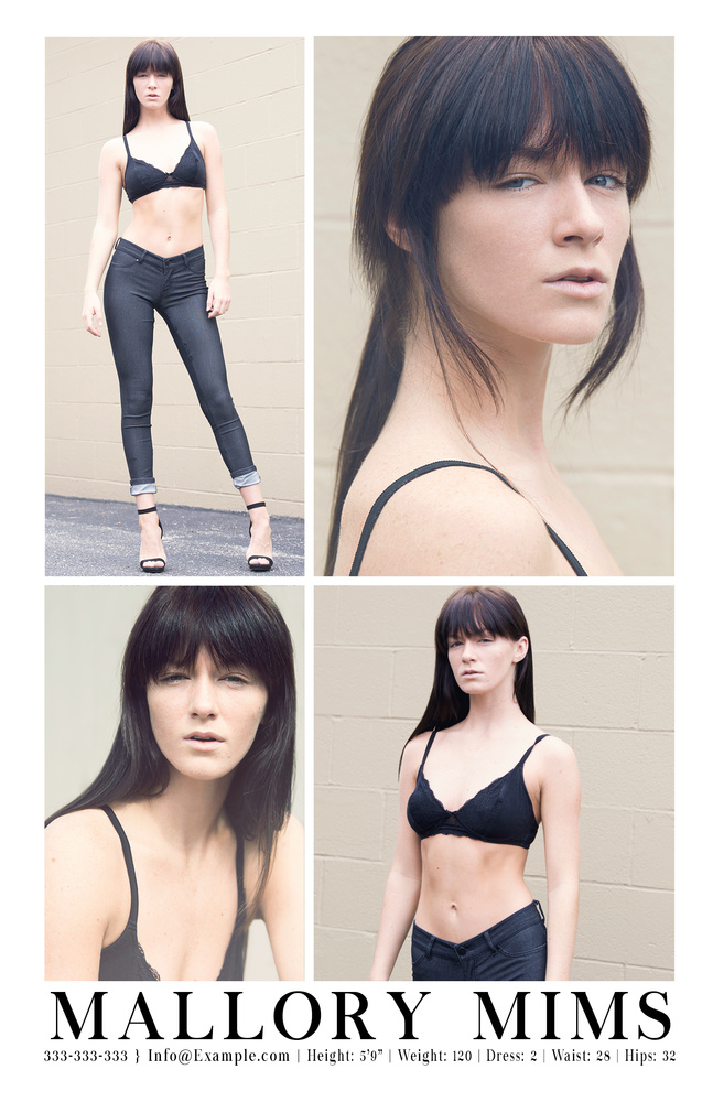 Final Composite Card For Model Mallory Mims.