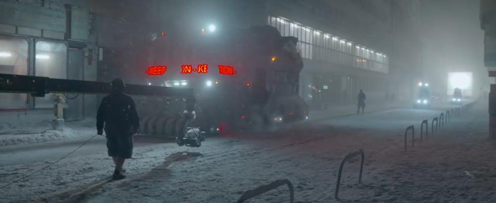 Blade Runner 2049: Snow scene