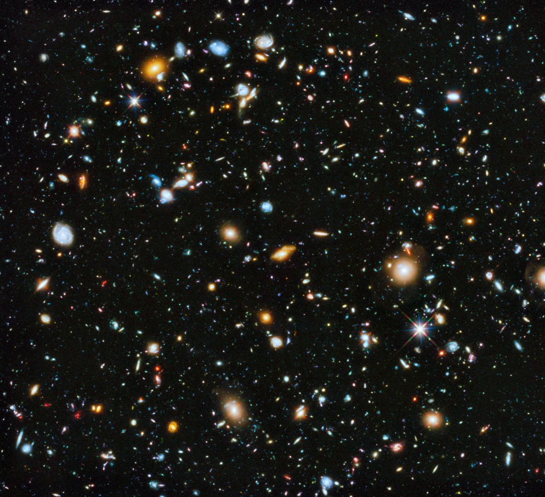 The Hubble Ultra Deep Field (2014), showing the most distant galaxies ever captured