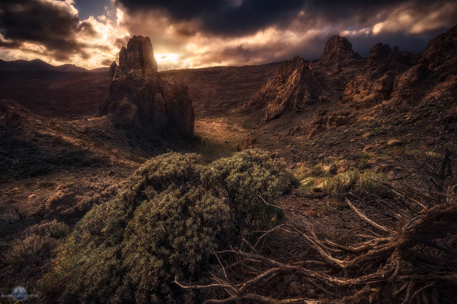 Sunset in El Teide National Park