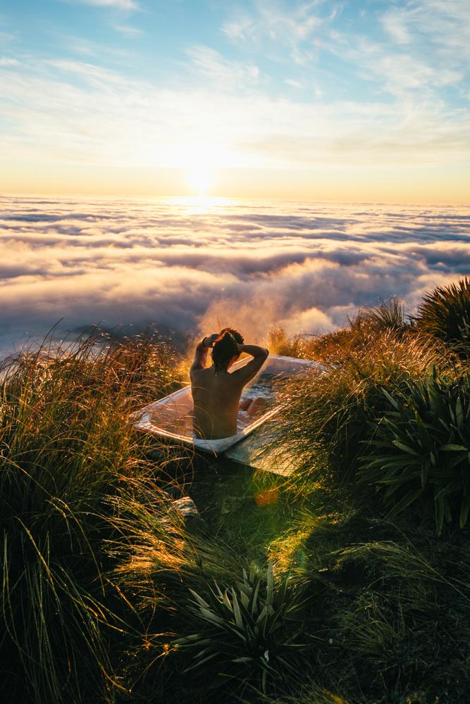 Above clouds bath
