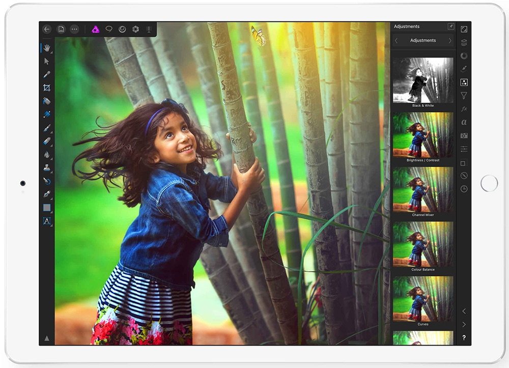 Affinity Photo iPad Flash Sale 50% off