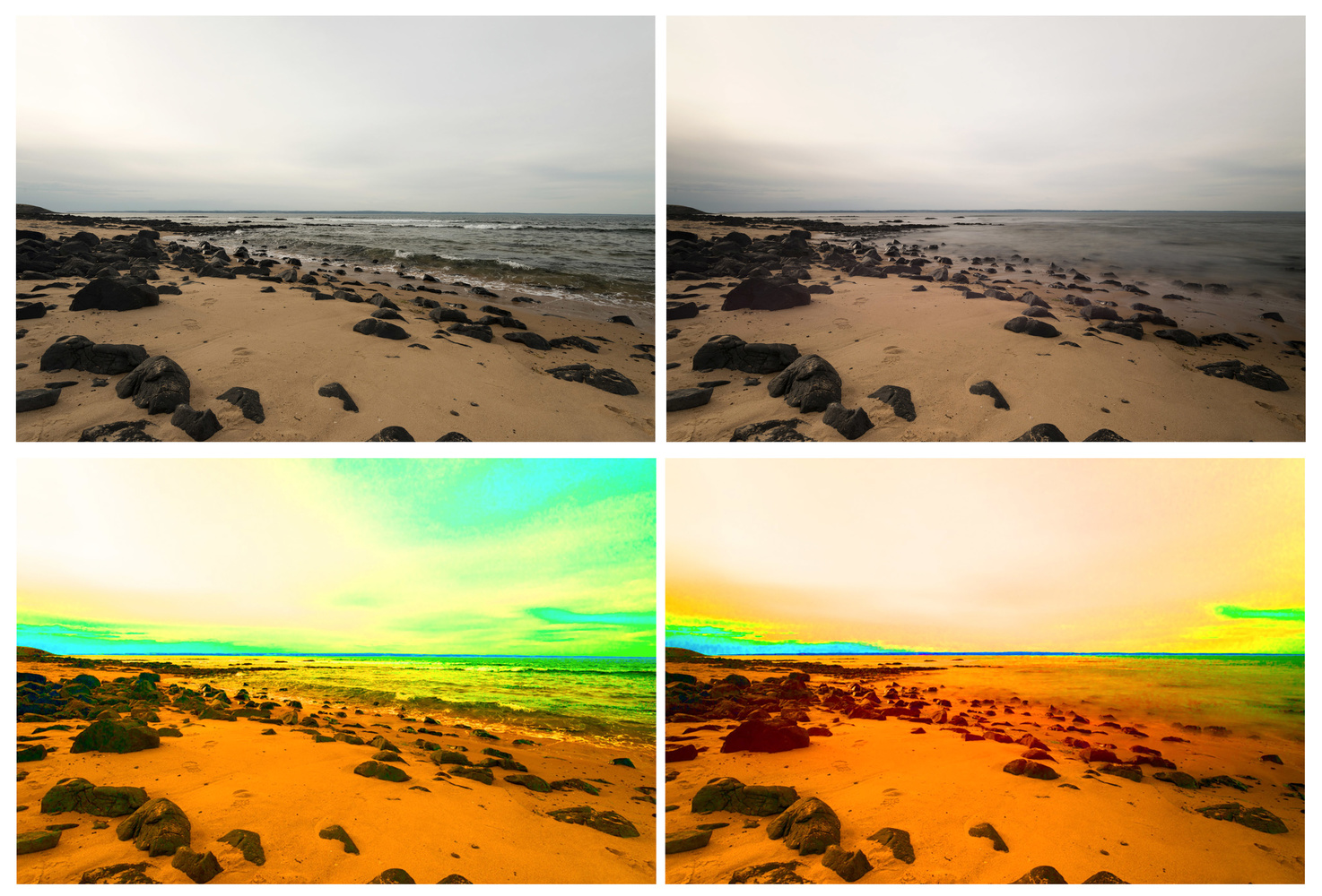 Fstoppers Reviews Nisi 100 X 100mm Nano Irnd 30 10 Stop Nd Filter System All In One Case Images Are Shot On A Cloudy Day Phillip Island Victoria The Photo Upper Left Corner Is Without And Right