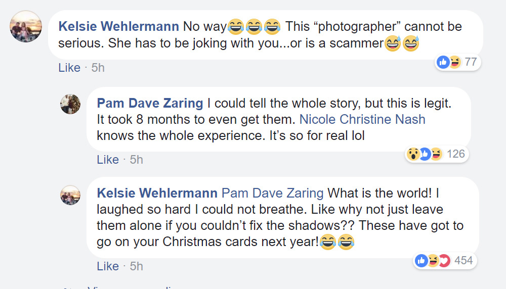 'Professional photographer's' hilariously bad edits launch Missouri family to internet fame