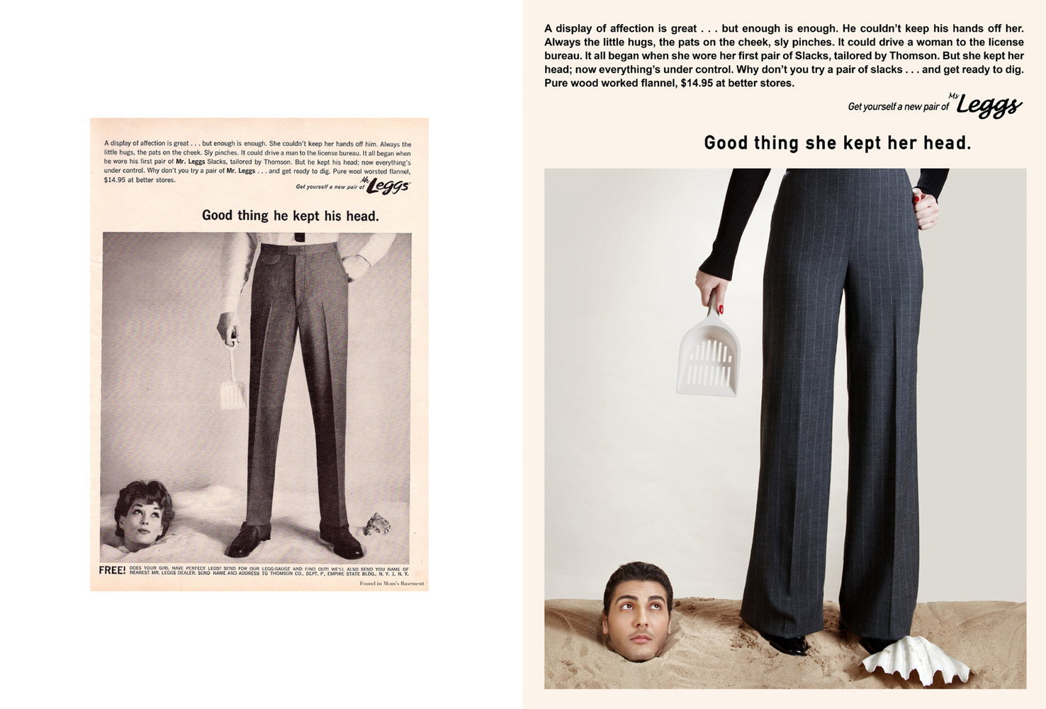 Reversed gender roles on a vintage advert