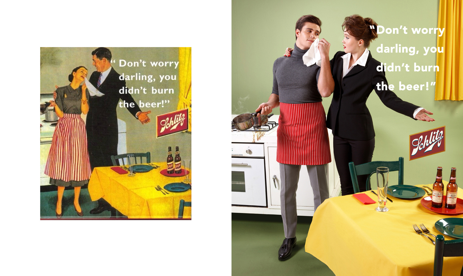 Reversed roles on a sexist vintage advert