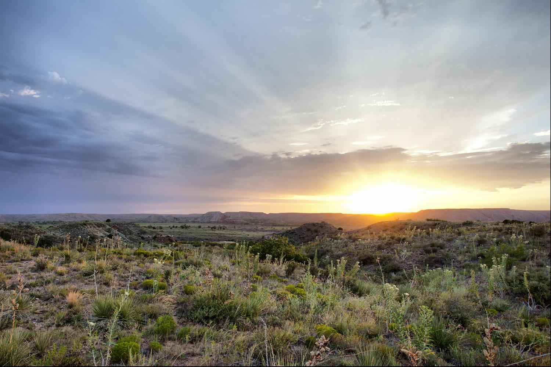 Texas sunset before Camera Raw