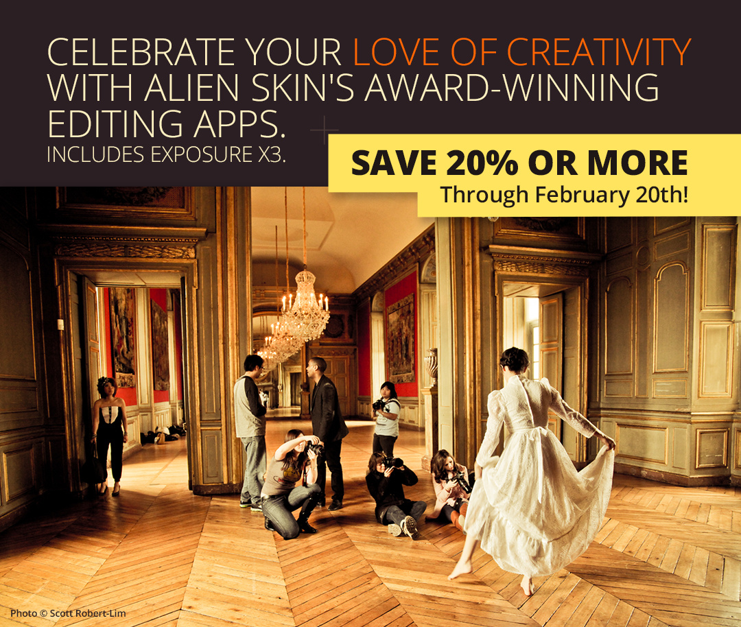 Winter deals by Alien Skin Software; makers of Exposure X3 raw photo editor