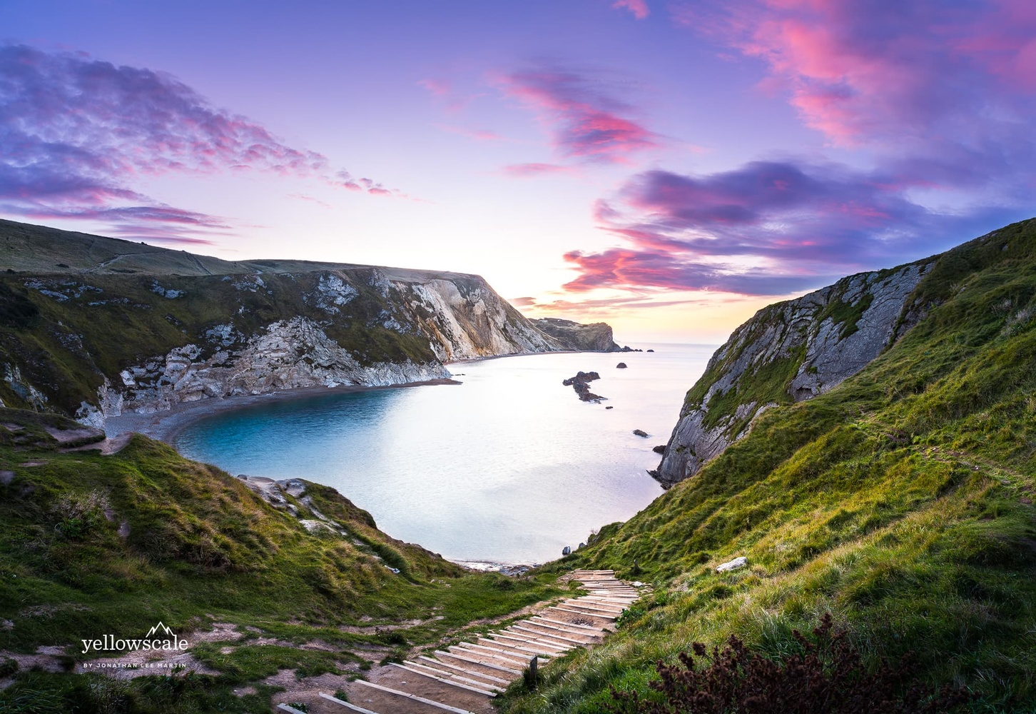 Man O' War Beach at Lulworth Cove, England