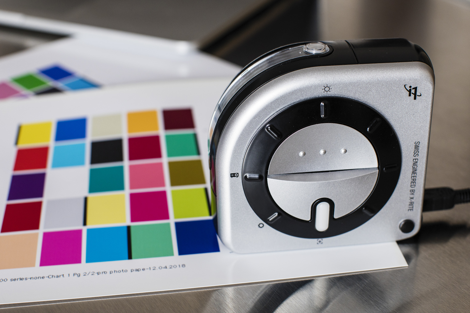 Printer profiling is quick and easy with the X-Rite i1Studio.