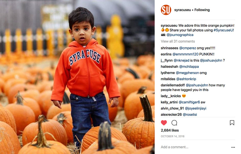 Universities generally build up a lot of school pride, and so it's one thing for an alma mater to request a photo. It's another thing for a corporation to do the same.