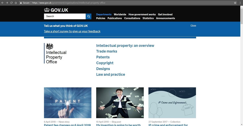 Screenshot of IPO's website