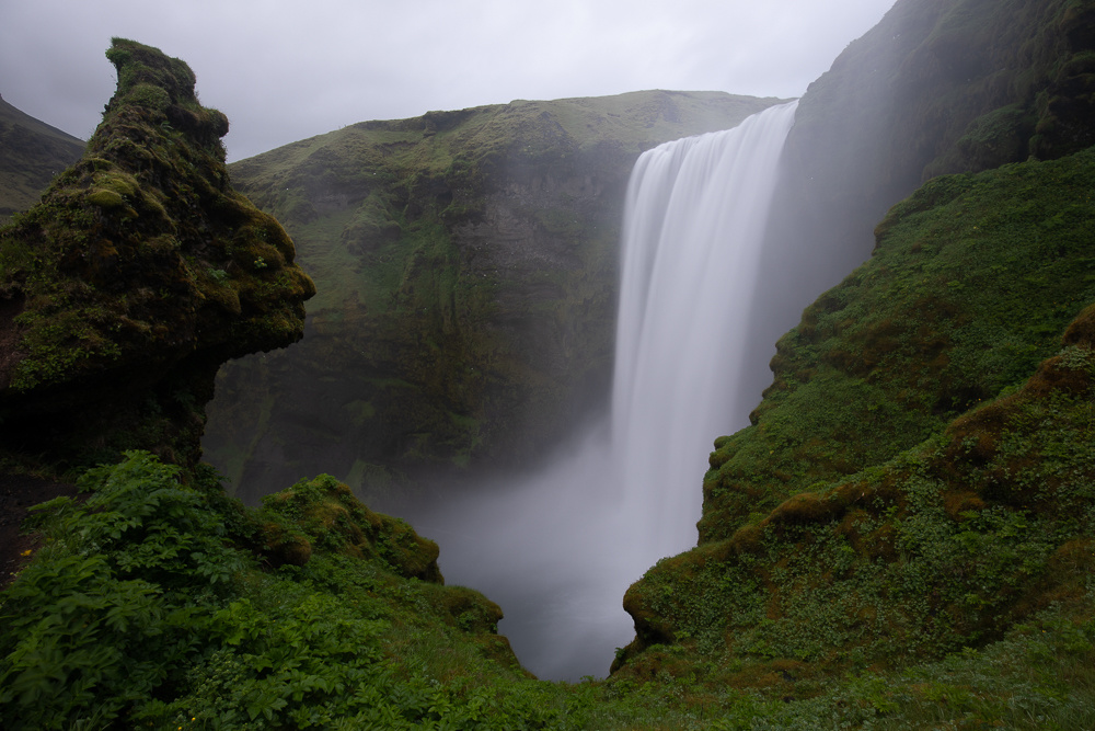 raw image of skogafoss from camera