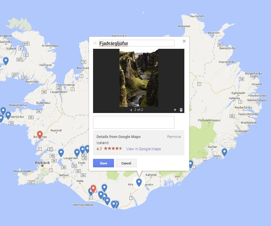 Using location images in google mymaps