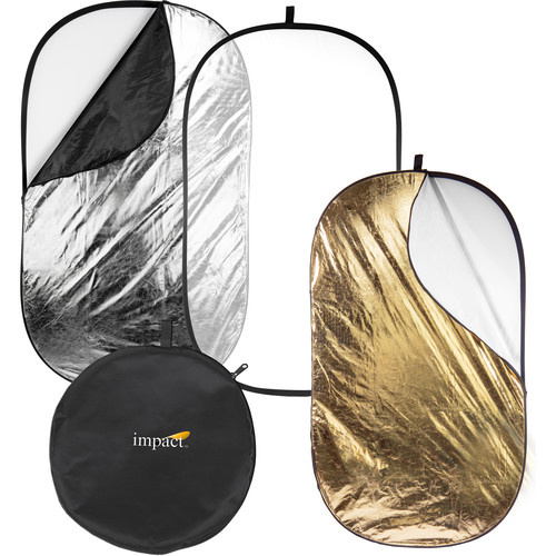 Impact 5-in-1 Collapsible Oval Reflector