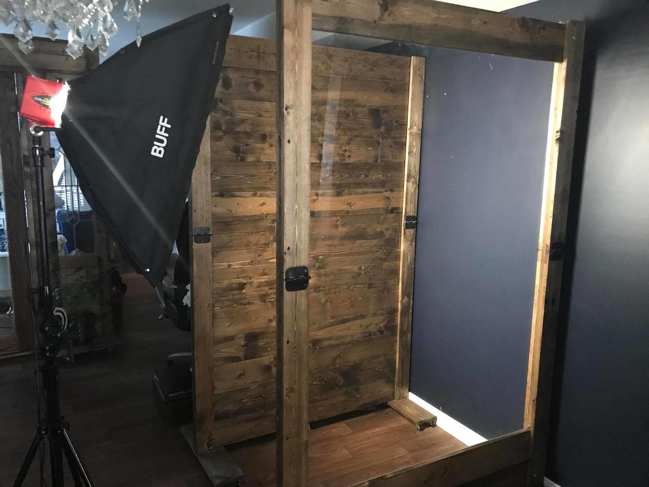 Diy photo backdrop stand wood