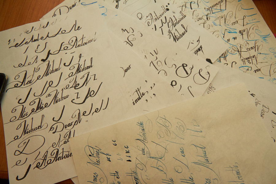 Calligraphy training