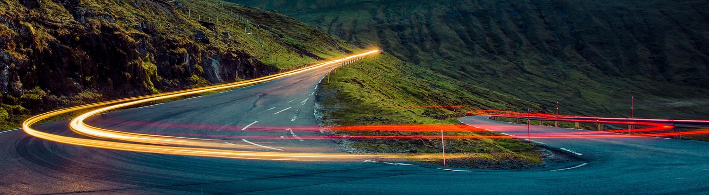 Mountain roads Faroe Islands