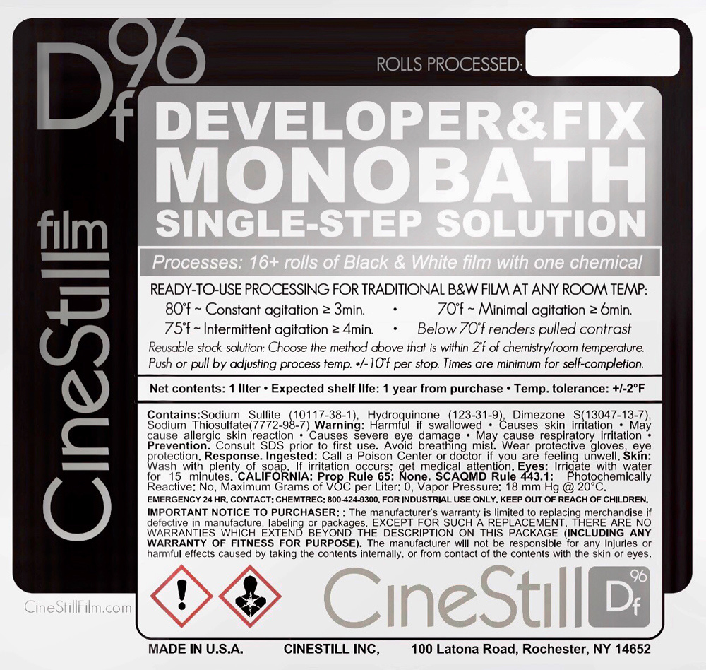 Cinestill Announces Df96 Monobath Worlds Fastest One Step Black Found This To The Be Easiest Follow Directions Printed On Bottle Are Easy And Truly Feature Just A Single For Developing Fixing