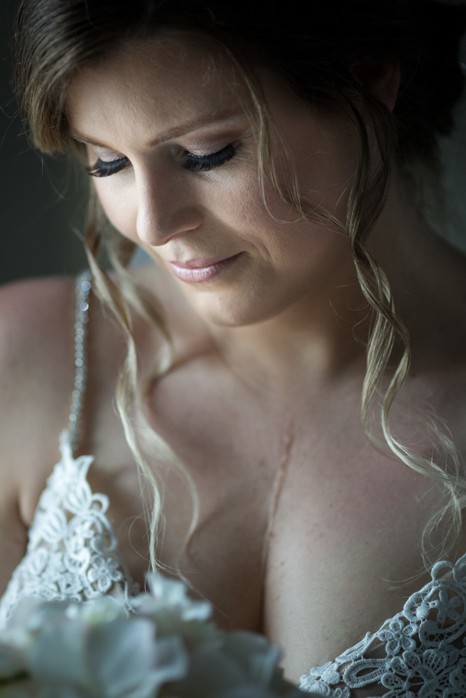 Bride portrait during preparation