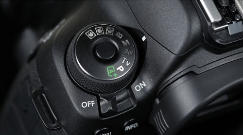 Mode dial on the Canon 5D mark IV