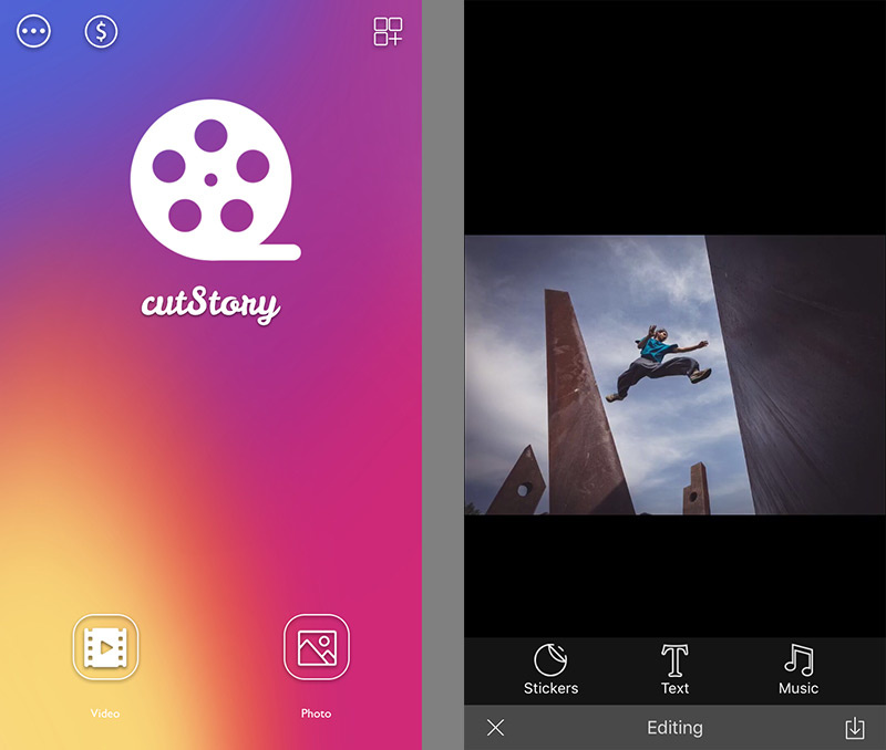 Cutstory app for Instagram