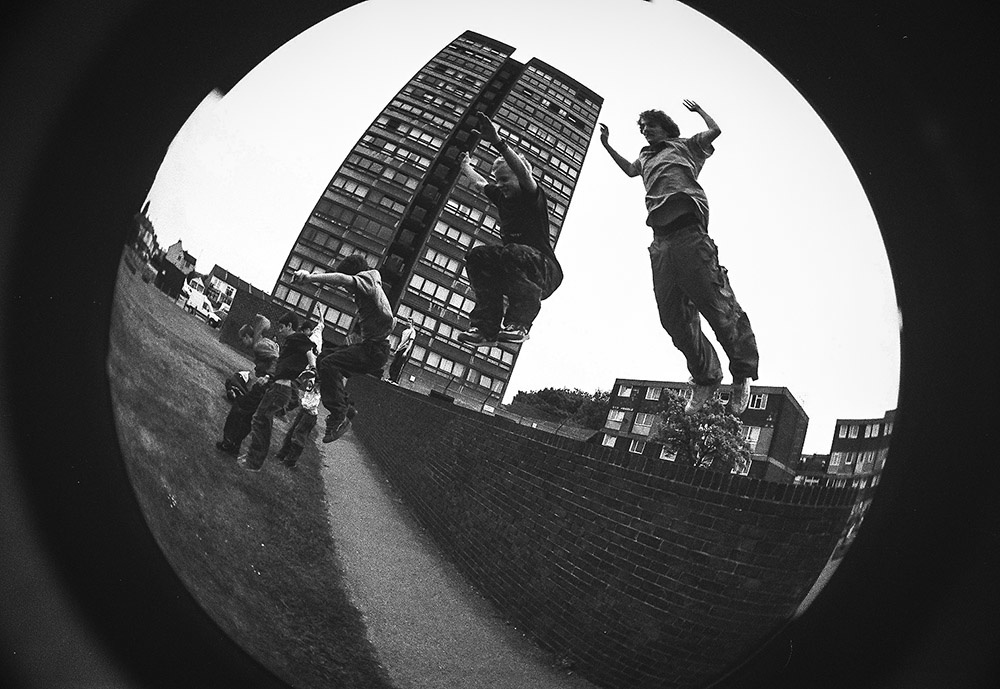 parkour fish eye lens