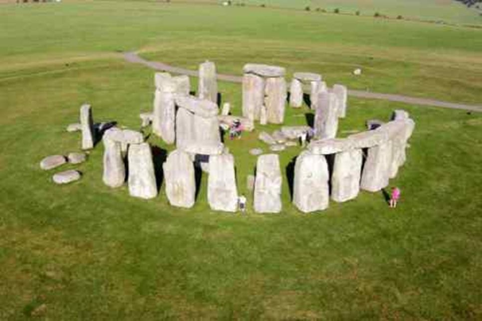 Low altitude image of Stonehenge