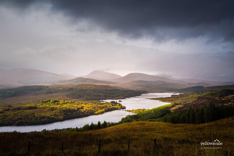 Loch Garry in the Scottish Highlands, UK