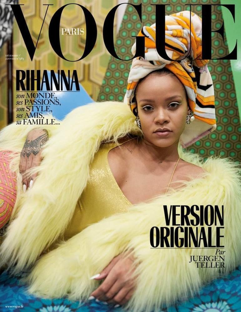 the Vogue Paris cover with Rihanna