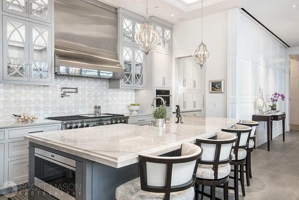 The finished result of an interior image of a luxury kitchen