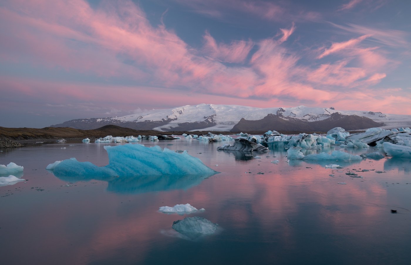 jokulsarlon at sunset with no edits