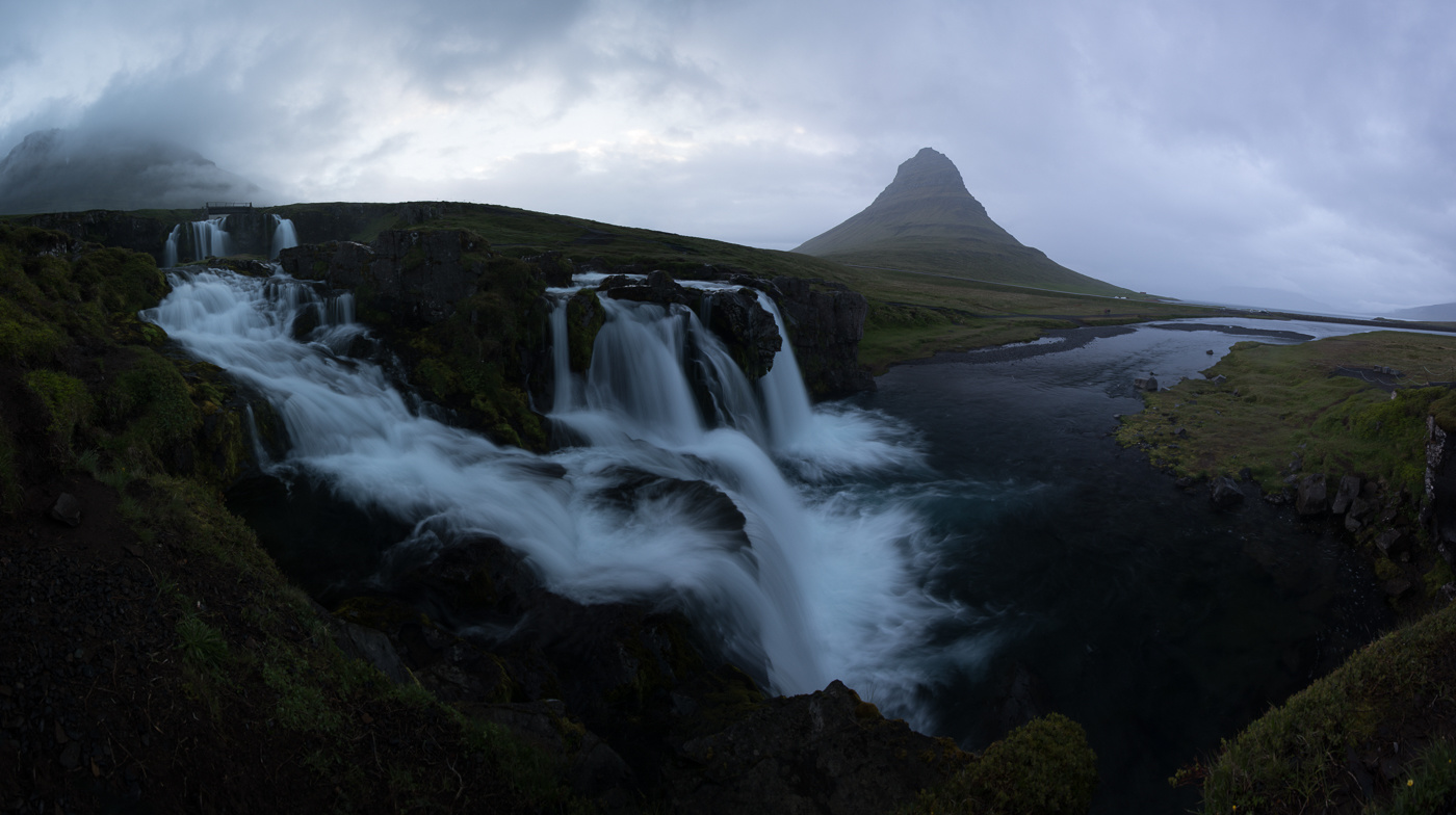Kirkjufell panorama completely flat edit