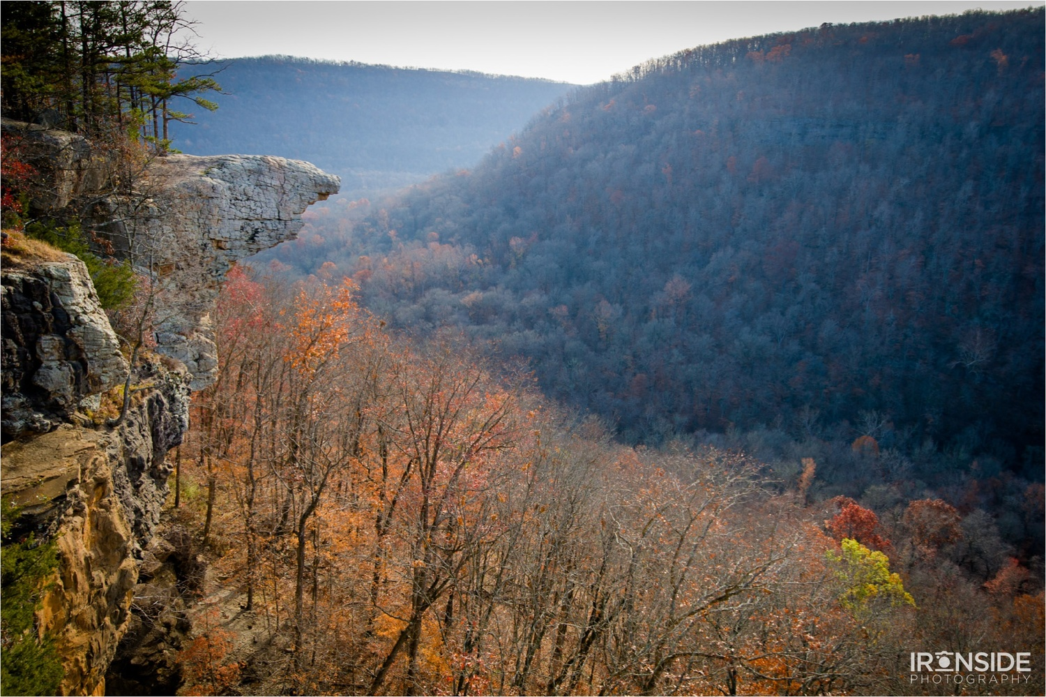 Even just location scouting can take you to some magical places. Hawksbill Crag, Ozark National Forest, Arkansas, 2012. Photo by Stephen Ironside.