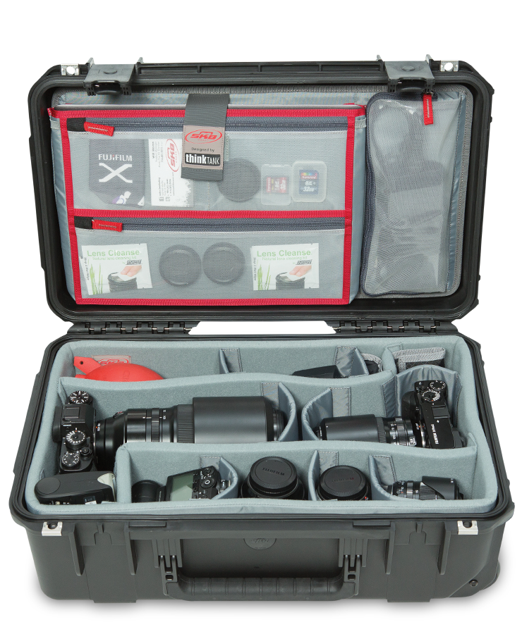 Black sturdy travel case for photography gear